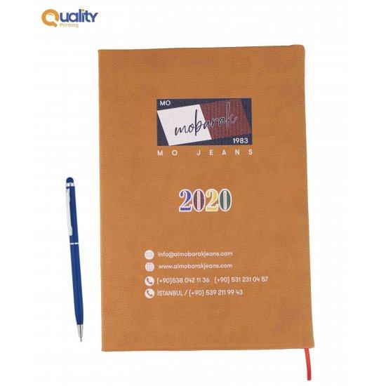 مفكرة عربية 2020 + قلم معدني مطبوع