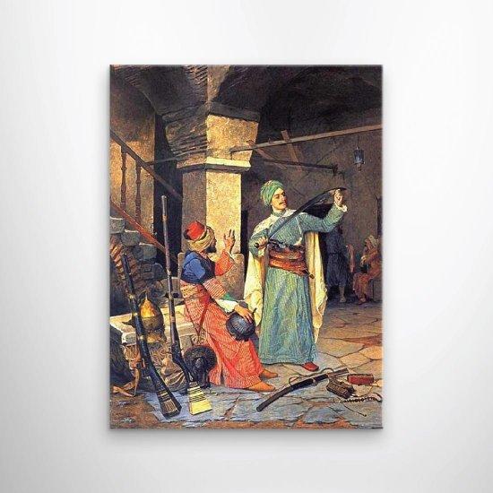 لوحة فنية تجارة اسلحة