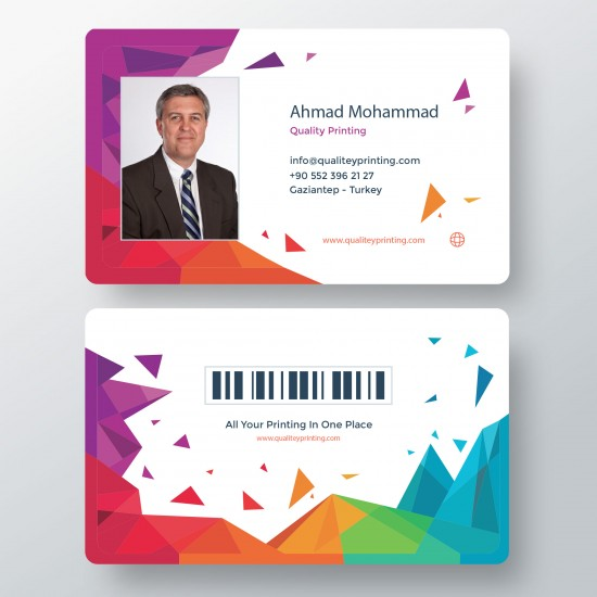 بطاقات بلاستيك id