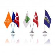 أعلام الطاولة مع قاعدة حديد