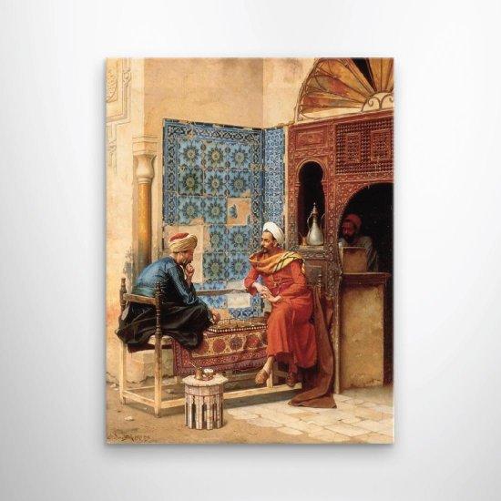 لوحة فنية لقهوة من العصر القديم